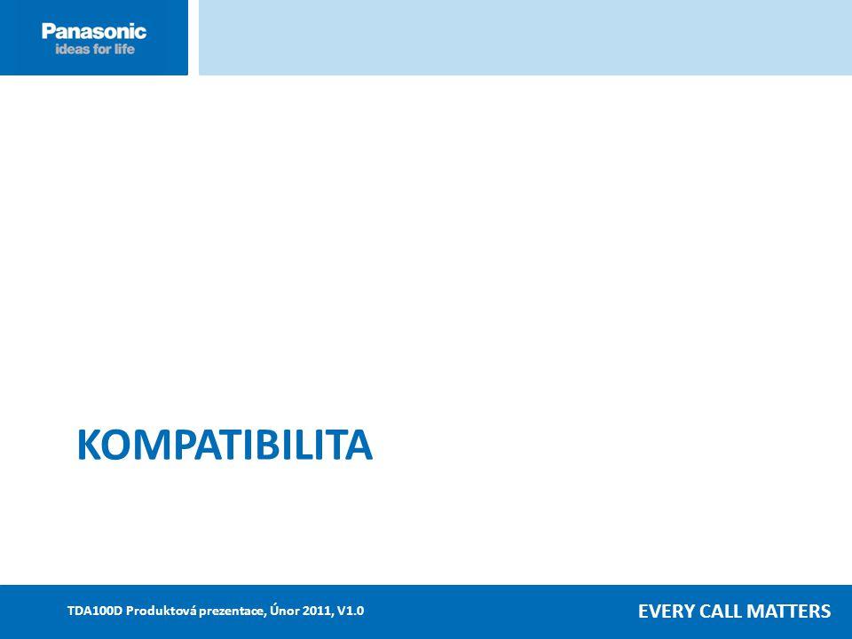EVERY CALL MATTERS TDA100D Produktová prezentace, Únor 2011, V1.0 KOMPATIBILITA