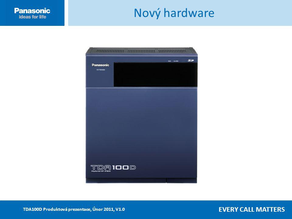 EVERY CALL MATTERS TDA100D Produktová prezentace, Únor 2011, V1.0 KX-TDA100D – Nový napájecí zdroj Napájecí zdroj Nový napájecí zdroj umožňuje (PSU) snadné zapojení a následné využití Není potřeba měnit PSU v případě rozšíření systému – nižší náklady v budoucnosti Nový PSU podporuje kapacitu až do 128 vnitř.linek včetně max.