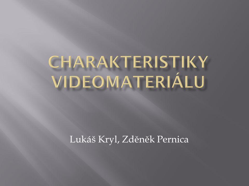  Barevné schéma  Rozlišení  Framerate  Specifika streamovaného videa  Výhled do budoucnosti