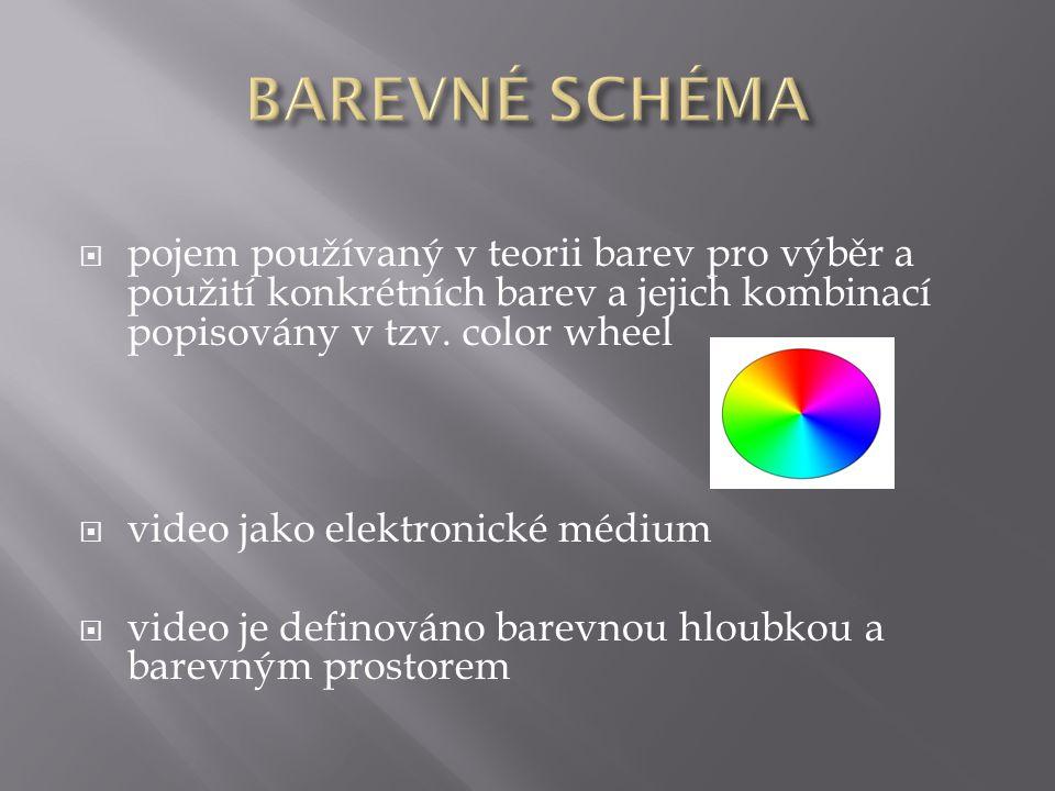  pojem používaný v teorii barev pro výběr a použití konkrétních barev a jejich kombinací popisovány v tzv.