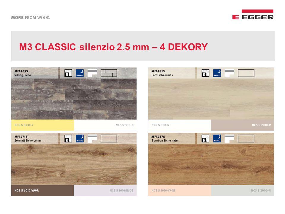 M3 CLASSIC silenzio 2.5 mm – 4 DEKORY