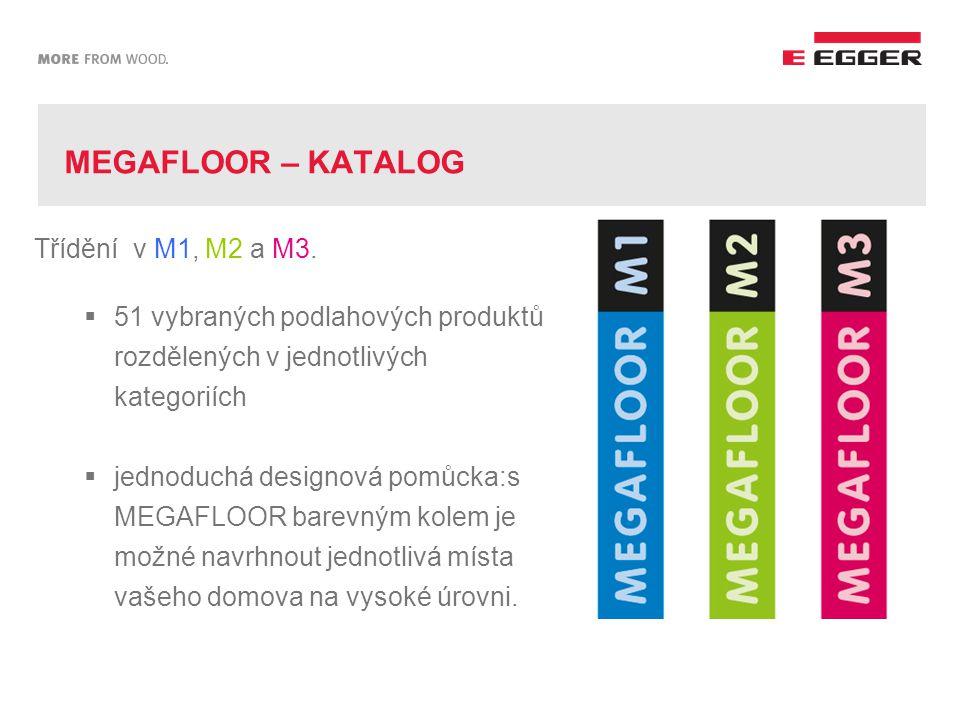 MEGAFLOOR – KATALOG Třídění v M1, M2 a M3.