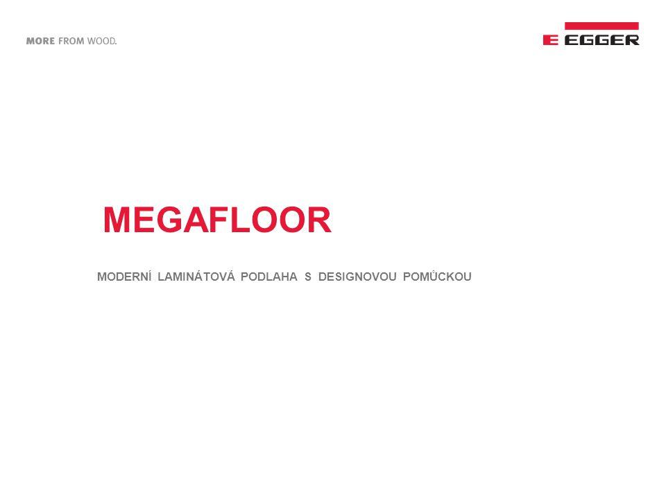 MEGAFLOOR – nové LOGO  Barevná tabulka s nově upraveným logem dává možnost přehledného výběru produktu z široké nabídky.