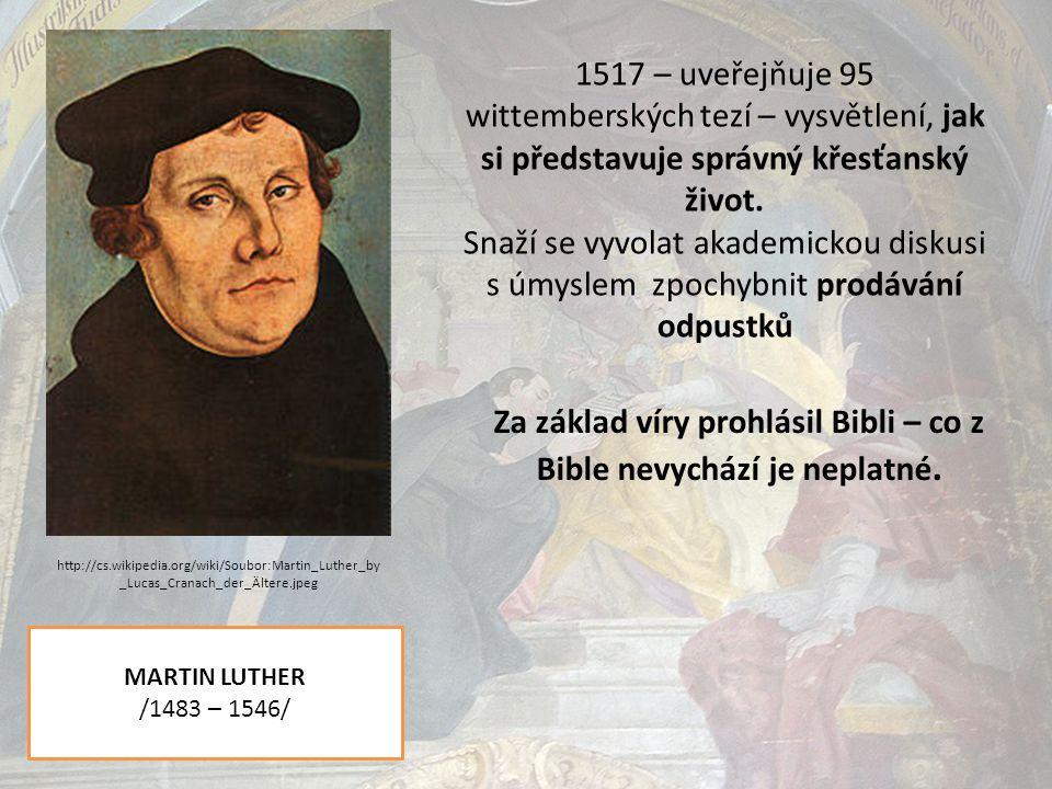 Německá selská válka /1524 – 1526/ Tomáš Muntzer Augsburský mír /1555/ Ukončení vleklých válek mezi protestanty a katolíky v německých oblastech.