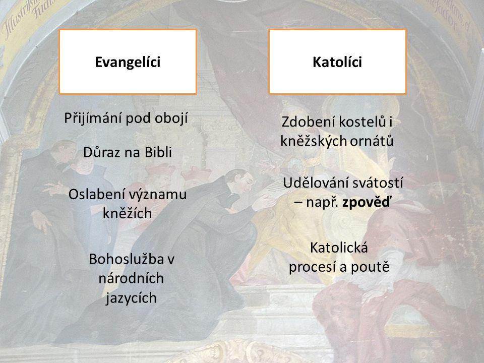 Mezi evangelíky a katolíky nezavládla ani po tridentském koncilu tolerance.