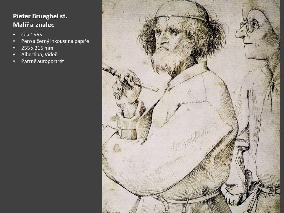 Pieter Brueghel st. Malíř a znalec Cca 1565 Cca 1565 Pero a černý inkoust na papíře Pero a černý inkoust na papíře 255 x 215 mm 255 x 215 mm Albertina