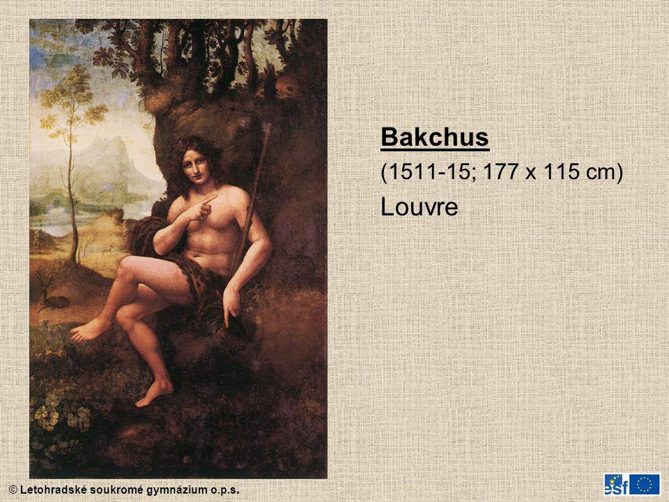 © Letohradské soukromé gymnázium o.p.s. Bakchus (1511-15; 177 x 115 cm) Louvre