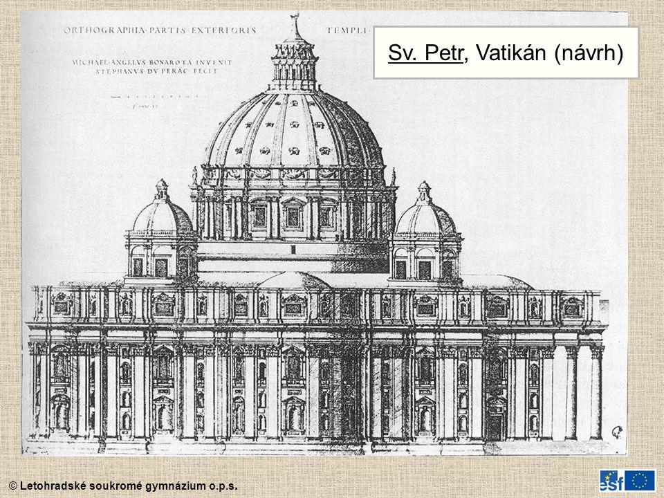 © Letohradské soukromé gymnázium o.p.s. Sv. Petr, Vatikán (návrh)