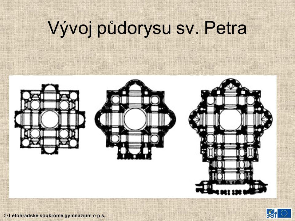 © Letohradské soukromé gymnázium o.p.s. Vývoj půdorysu sv. Petra
