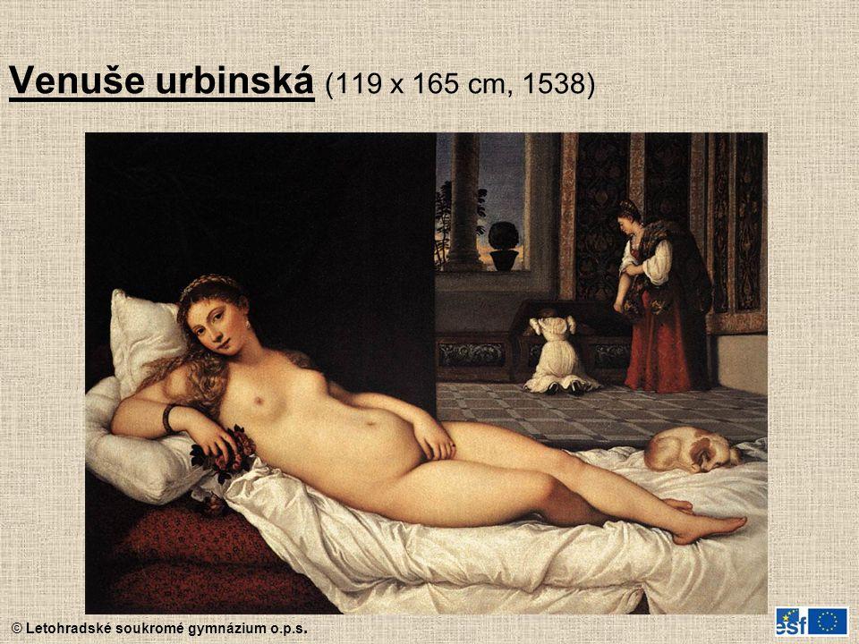 © Letohradské soukromé gymnázium o.p.s. Venuše urbinská (119 x 165 cm, 1538)