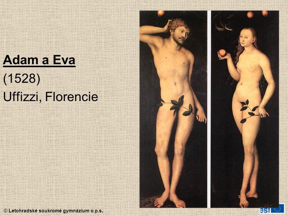 © Letohradské soukromé gymnázium o.p.s. Adam a Eva (1528) Uffizzi, Florencie
