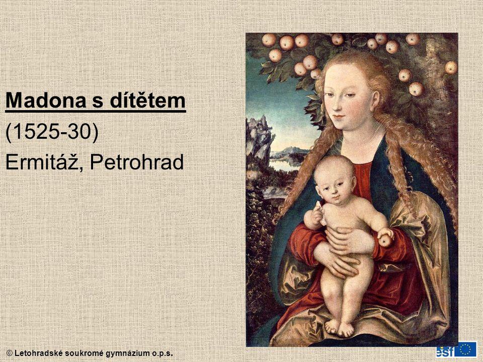 © Letohradské soukromé gymnázium o.p.s. Madona s dítětem (1525-30) Ermitáž, Petrohrad