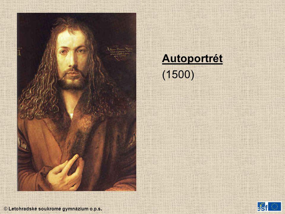 © Letohradské soukromé gymnázium o.p.s. Autoportrét (1500)