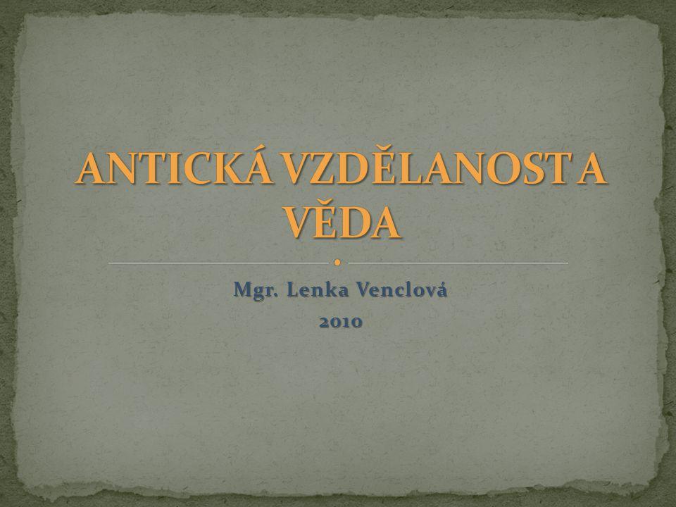 Mgr. Lenka Venclová 2010