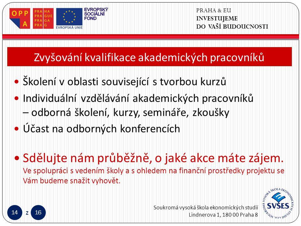 PRAHA & EU INVESTUJEME DO VAŠÍ BUDOUCNOSTI Soukromá vysoká škola ekonomických studií Lindnerova 1, 180 00 Praha 8 1416 z Klepnutím lze upravit styl předlohy nadpisů.