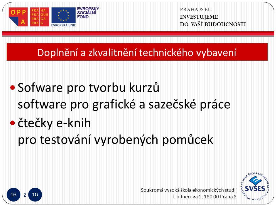PRAHA & EU INVESTUJEME DO VAŠÍ BUDOUCNOSTI Soukromá vysoká škola ekonomických studií Lindnerova 1, 180 00 Praha 8 16 z Klepnutím lze upravit styl předlohy nadpisů.
