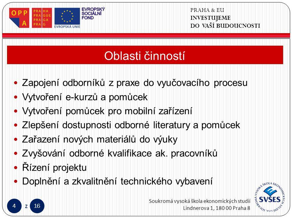 PRAHA & EU INVESTUJEME DO VAŠÍ BUDOUCNOSTI Soukromá vysoká škola ekonomických studií Lindnerova 1, 180 00 Praha 8 416 z Klepnutím lze upravit styl předlohy nadpisů.