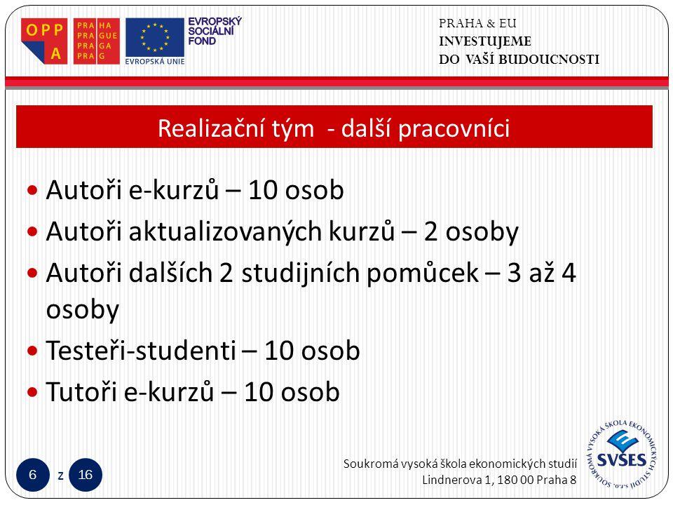 PRAHA & EU INVESTUJEME DO VAŠÍ BUDOUCNOSTI Soukromá vysoká škola ekonomických studií Lindnerova 1, 180 00 Praha 8 616 z Klepnutím lze upravit styl předlohy nadpisů.