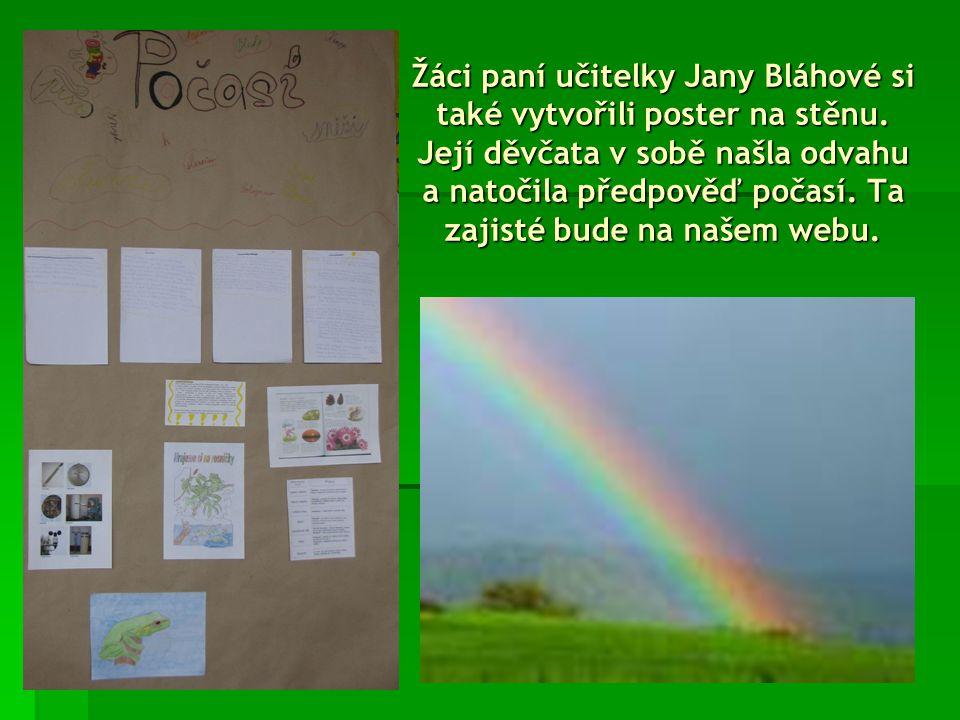 Poster z projektového dne si vytvořili i osmáci paní učitelky Zdeny Dobešové.