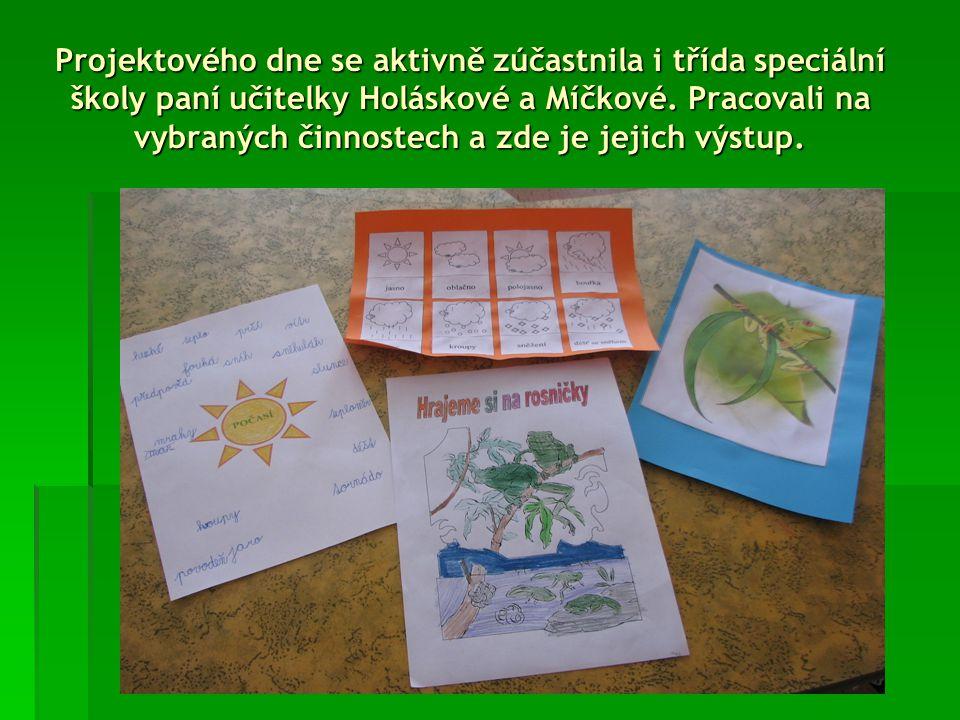 Žáci paní učitelky Jany Bláhové si také vytvořili poster na stěnu.