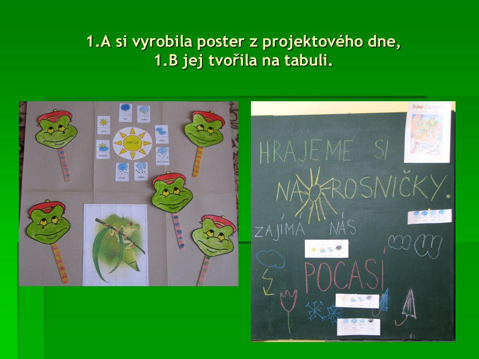 Paní učitelka Maruška nakreslila svým třeťákům moc pěkné žabáčky na tabuli.
