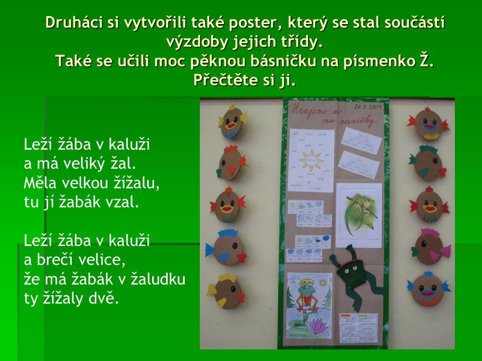 1.A si vyrobila poster z projektového dne, 1.B jej tvořila na tabuli.