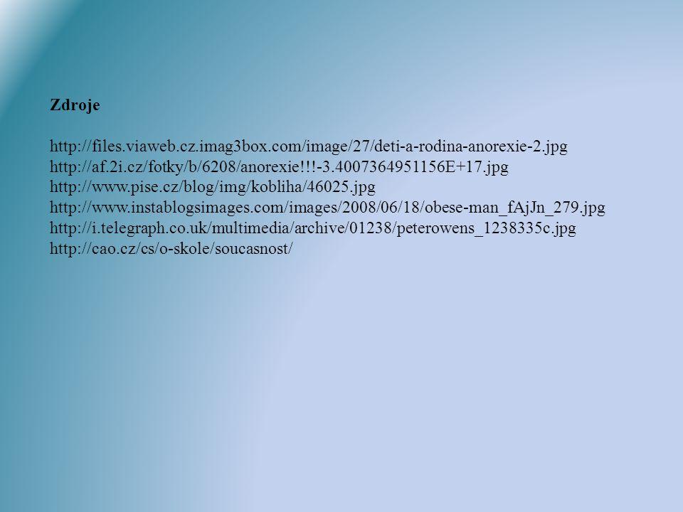 Zdroje http://files.viaweb.cz.imag3box.com/image/27/deti-a-rodina-anorexie-2.jpg http://af.2i.cz/fotky/b/6208/anorexie!!!-3.4007364951156E+17.jpg http