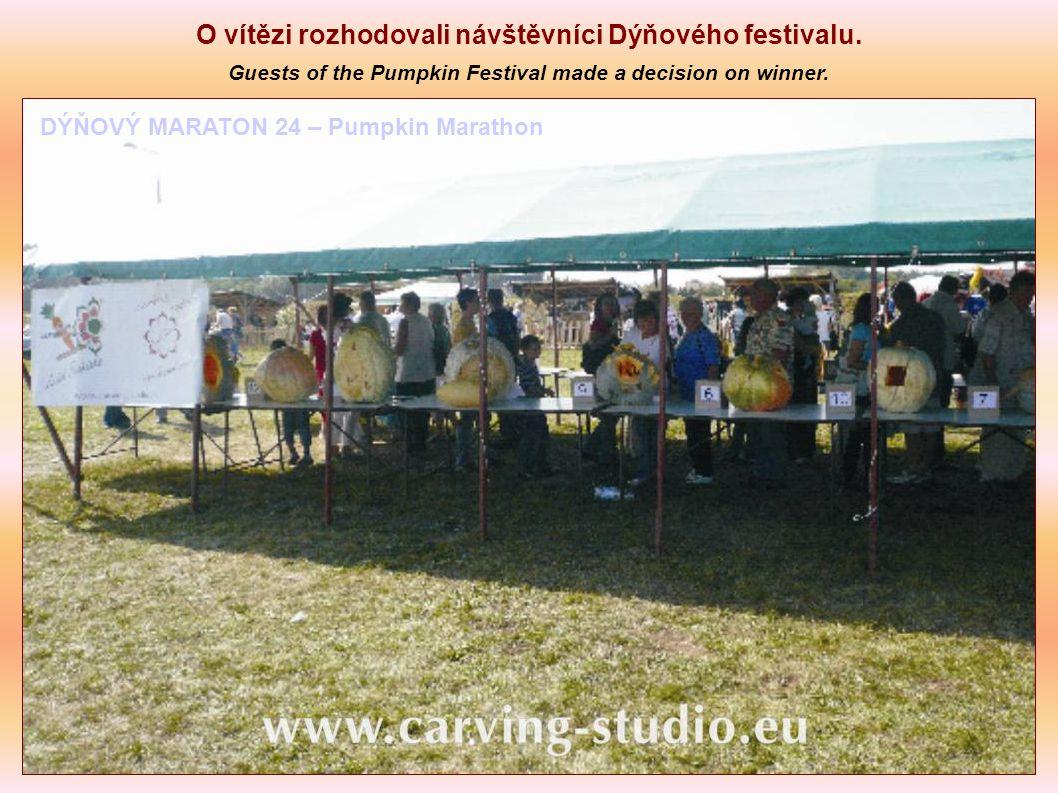 O vítězi rozhodovali návštěvníci Dýňového festivalu.
