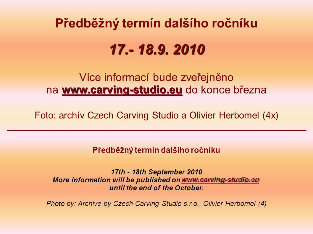 Předběžný termín dalšího ročníku 17.- 18.9.