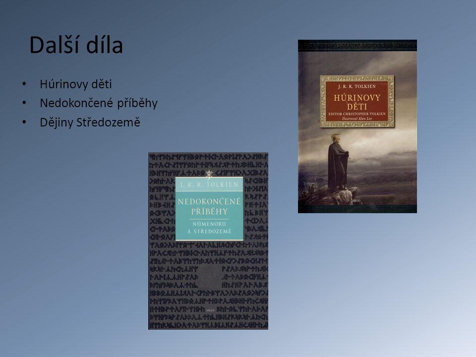 Další díla Húrinovy děti Nedokončené příběhy Dějiny Středozemě
