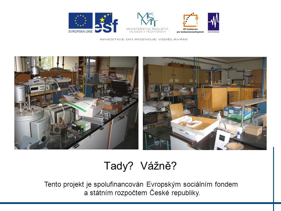 Tady? Vážně? Tento projekt je spolufinancován Evropským sociálním fondem a státním rozpočtem České republiky.