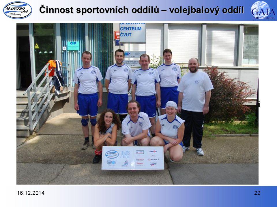 16.12.201422 Činnost sportovních oddílů – volejbalový oddíl 6.