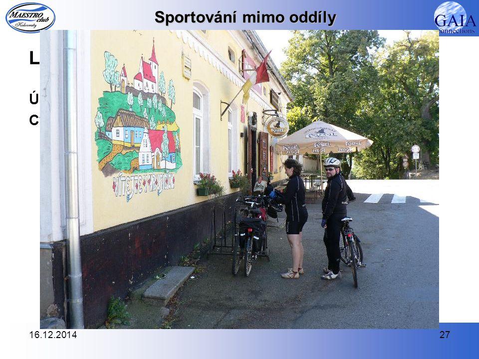 16.12.201427 Sportování mimo oddíly Ladovým krajem na kole (13.