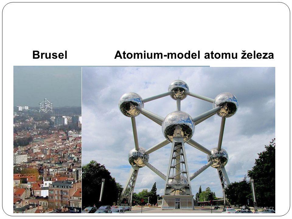 Brusel Atomium-model atomu železa