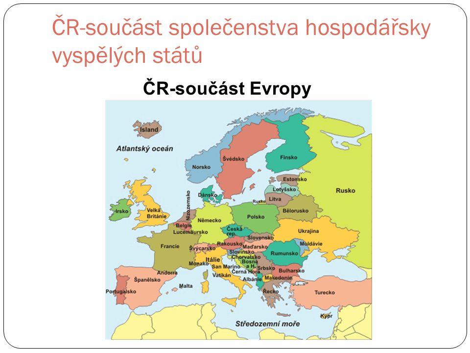 ČR-součást Evropy