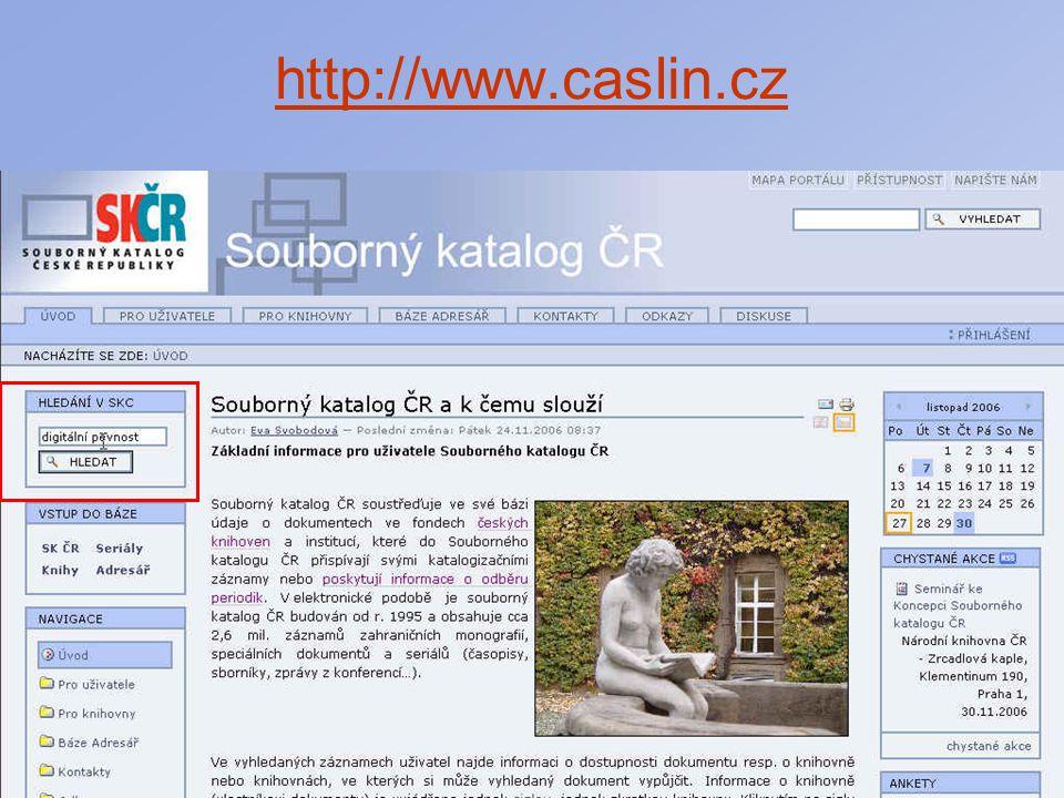 Celostátní seminář Regionální funkce knihoven 2007 Souborné katalogy v ČR