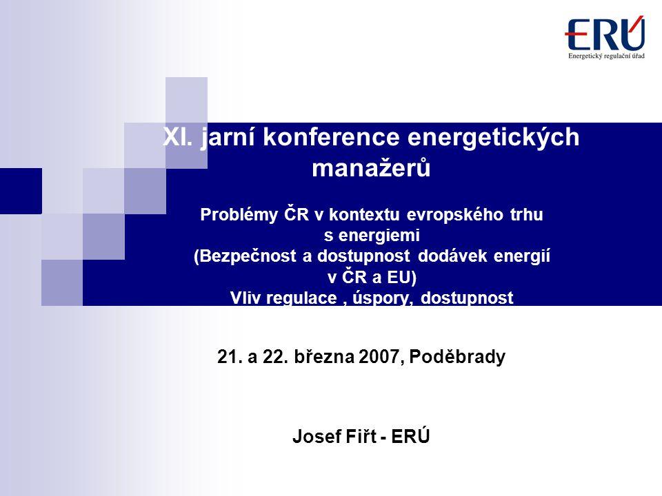 2 Problémy ČR v kontextu evropského trhu s energiemi I.Vliv regulace nejen na cenovou stabilitu II.Bezpečnost a spolehlivost dodávek (elektřina, plyn) III.Dostupnost energií – EK pro Evropu