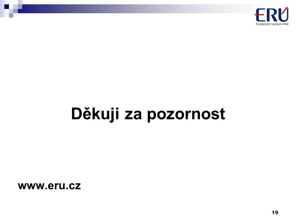 19 Děkuji za pozornost www.eru.cz