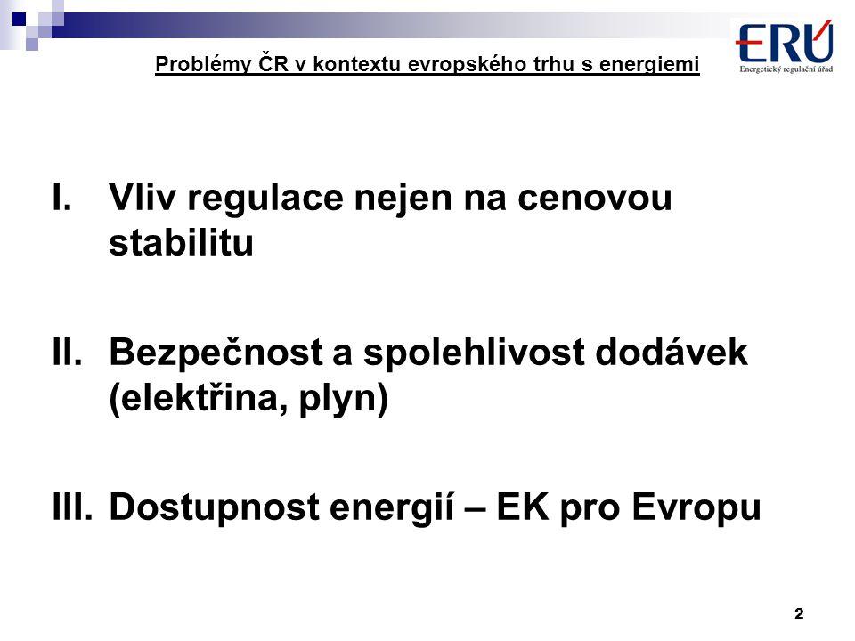 13 Problémy ČR v kontextu evropského trhu s energiemi EU ČR