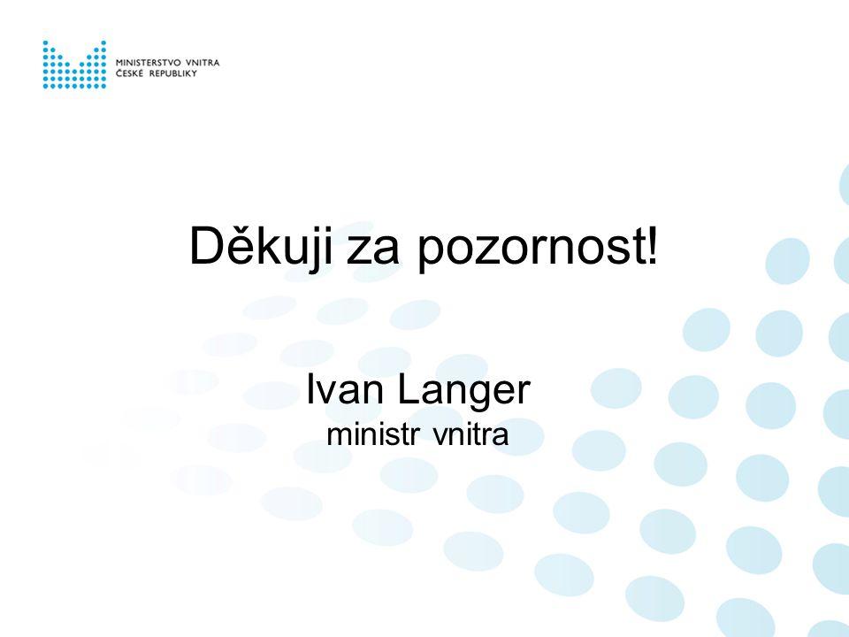 Děkuji za pozornost! Ivan Langer ministr vnitra