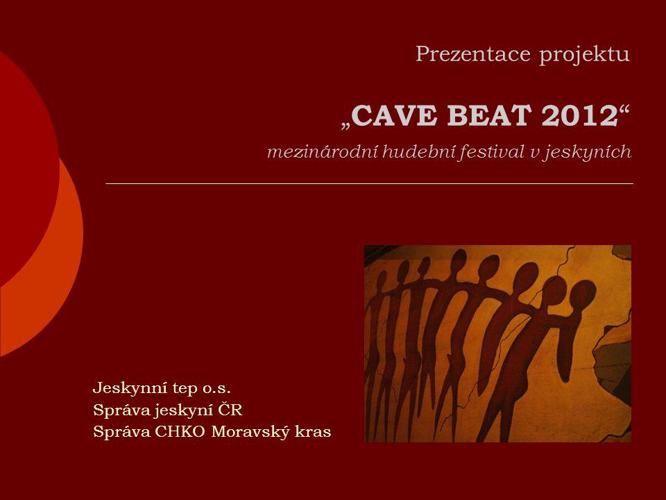 """Prezentace projektu """" CAVE BEAT 2012 mezinárodní hudební festival v jeskyních Jeskynní tep o.s."""