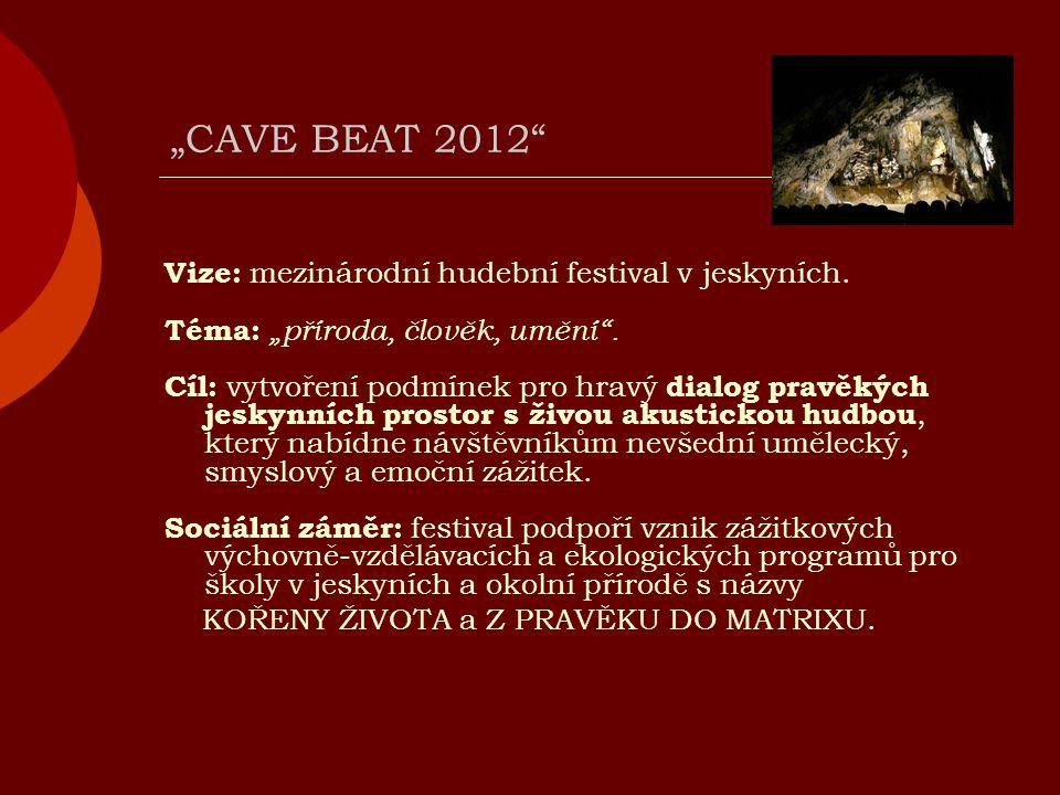 """""""CAVE BEAT 2012 Vize: mezinárodní hudební festival v jeskyních."""