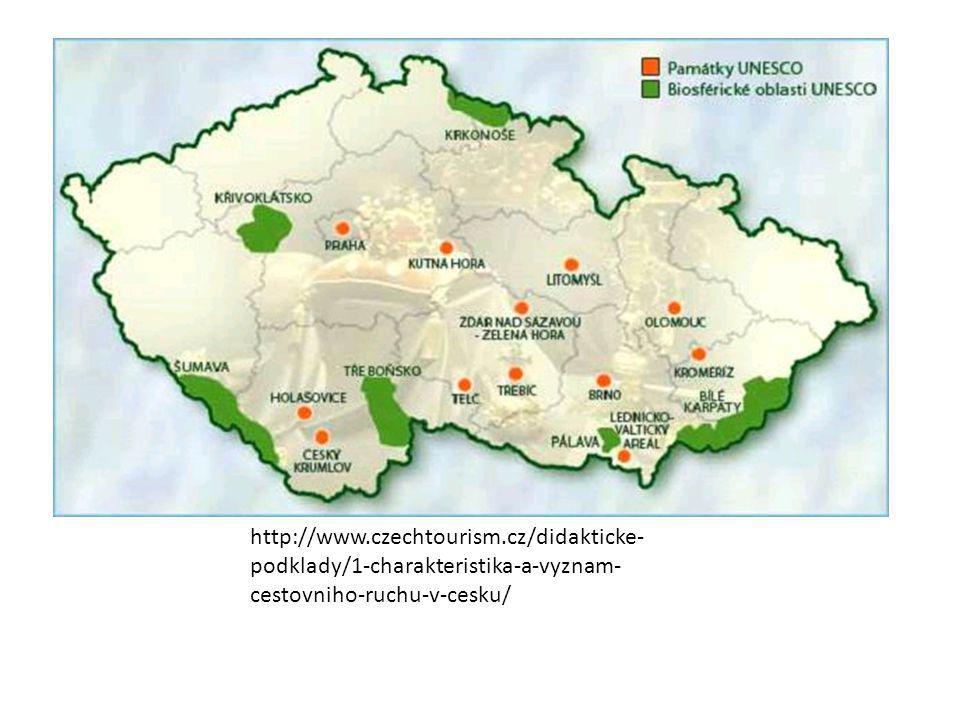 http://www.czechtourism.cz/didakticke- podklady/1-charakteristika-a-vyznam- cestovniho-ruchu-v-cesku/
