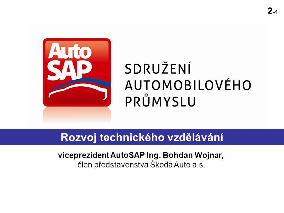 viceprezident AutoSAP Ing. Bohdan Wojnar, člen představenstva Škoda Auto a.s.
