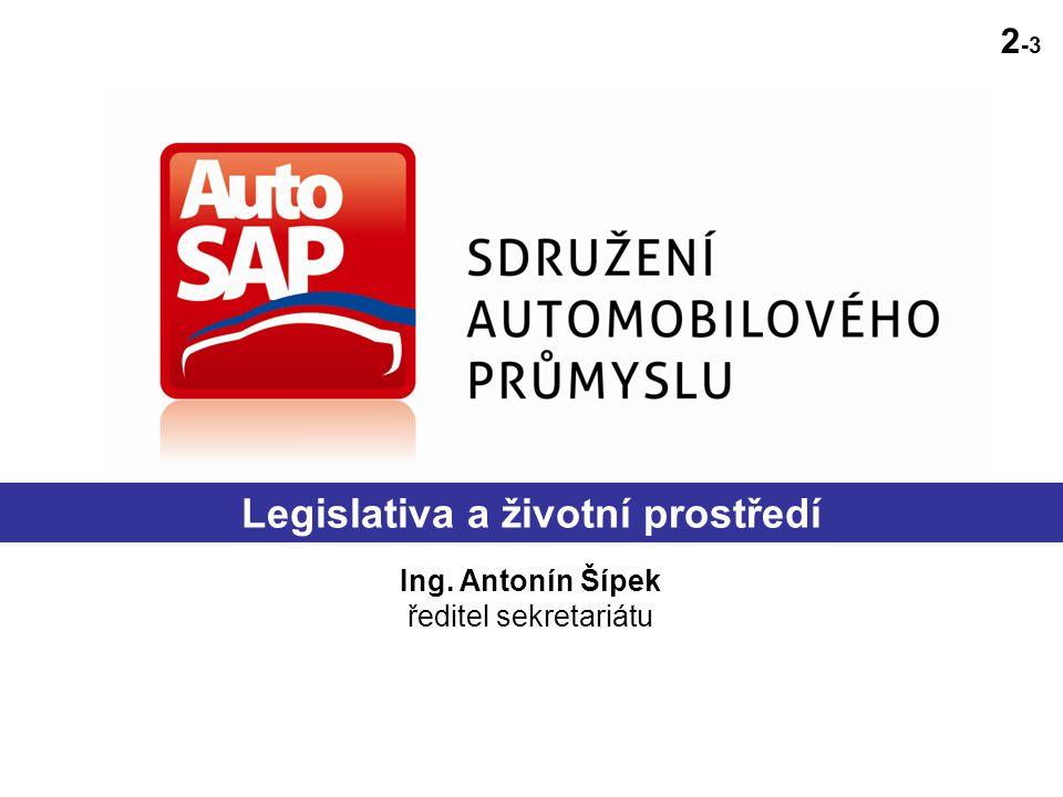 Legislativa a životní prostředí Ing. Antonín Šípek ředitel sekretariátu 2 -3