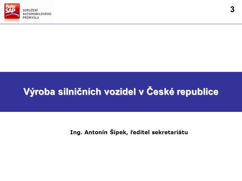 Směry hlavních činností AutoSAP Strategie AutoSAP pro další období Výroba silničních vozidel v České republice Ing.