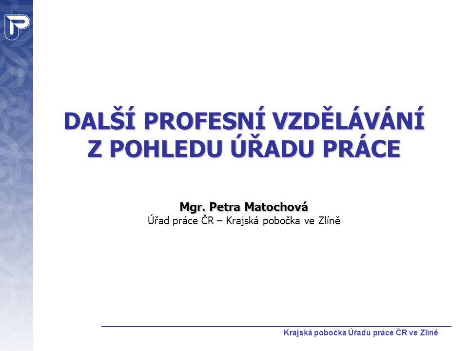 Krajská pobočka Úřadu práce ČR ve Zlíně Perspektiva Budoucí role úřadu práce v dalším profesním vzdělávání