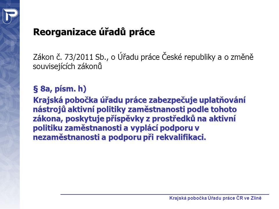 Krajská pobočka Úřadu práce ČR ve Zlíně Veřejné zakázky pro výběr dodavatelů rekvalifikací Do konce roku 2011 jsou rekvalifikace realizovány na základě veřejných zakázek vyhlášených úřady práce v rámci jednotlivých okresů.