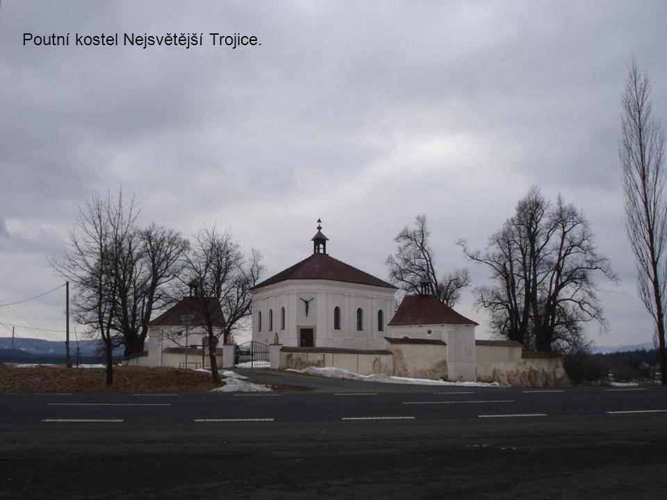 Poutní kostel Nejsvětější Trojice.