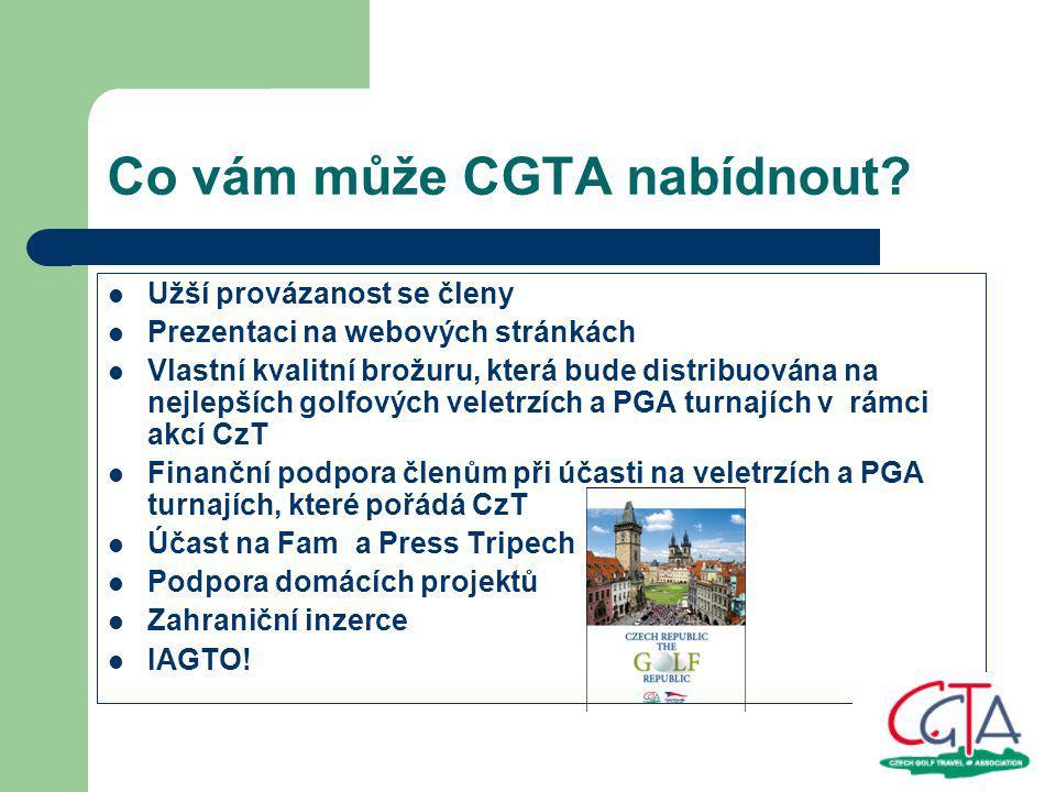 Co vám může CGTA nabídnout.